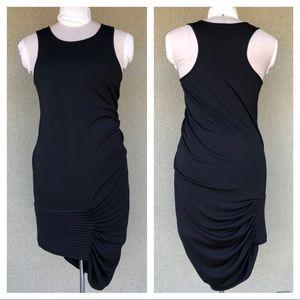 Max Azria asymmetrical black dress